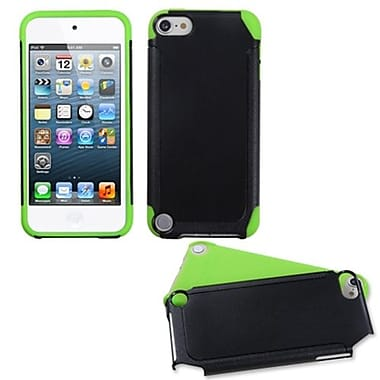 Insten® Fusion Hybrid Cover For iPod Touch 5th Gen, Green/Black