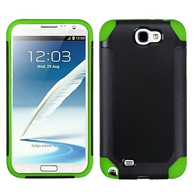 Insten® Frosted Fusion Protector Cover For Samsung Galaxy Note II, Black/Green
