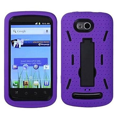 Insten® Symbiosis Stand Protector Case For Coolpad 5860E Quattro 4G, Black/Purple