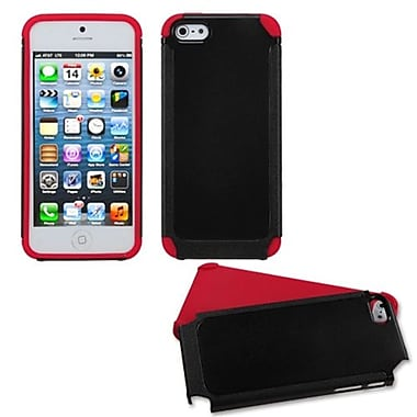 Insten® Fusion Protector Cover F/iPhone 5/5S, Black/Red Frosted