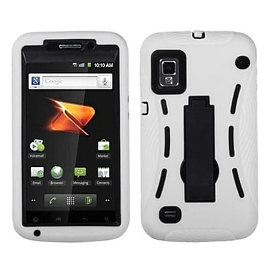 Insten® Symbiosis Stand Protector Cover For ZTE N860 Warp, Black/White