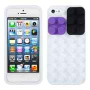 Insten® Blocks Skin Cover F/iPhone 5/5S, White