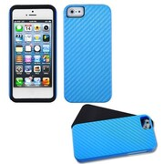 Insten® Crosshatch Fusion Protector Cover F/iPhone 5/5S, Blue
