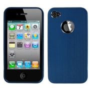 Insten® Chrome Coating Metal Shield Protector Cover F/iPhone 4/4S, Blue Ironside