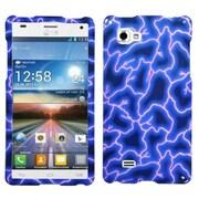 Insten® Cover Case For LG Optimus 4X HD P880, Blue Lightning Image