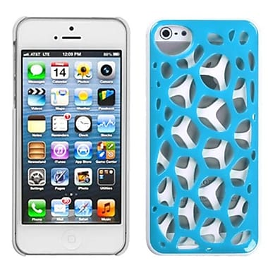 Insten® Synapse Cover F/iPhone 5/5S, Blue/White