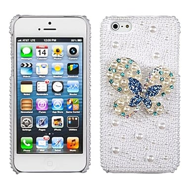 Insten® Pearl 3D Diamante Back Protector Covers F/iPhone 5/5S