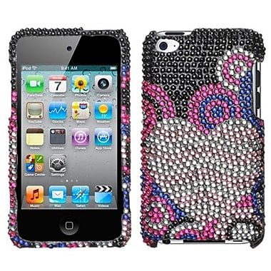 Insten® Diamante Faceplate Case For iPod Touch 4th Gen, Bubble Hearts