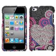 Insten® Diamante Faceplate Case For iPod Touch 4th Gen, Bubble Hearts
