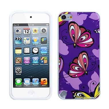 Insten® TPU Plastic Gummy Skin Phone Cover For iPod Touch 5th Gen, Butterfly Brigade