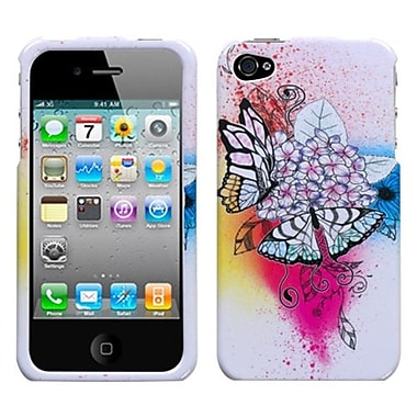 Insten® Phone Protector Cover F/iPhone 4/4S, Butterfly Paradise