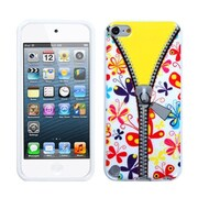 Insten® TPU Plastic Gummy Skin Phone Cover For iPod Touch 5th Gen, Butterfly/Zipper