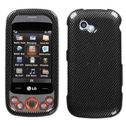 Insten® Protector Case For LG GW370 Neon II, Carbon Fiber