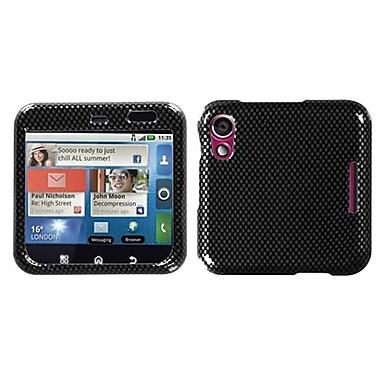 Insten® Protector Case For Motorola MB511 Flipout, Carbon Fiber