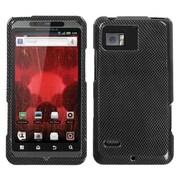 Insten® Rubber Protector Case For Motorola XT875 Droid Bionic, Carbon Fiber