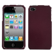 Insten® Phone Protector Cover F/iPhone 4/4S, Carbon Fiber/Red