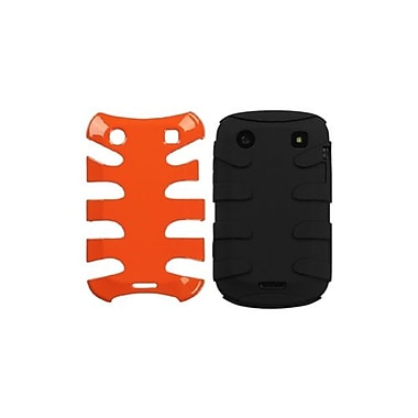 Insten® Fishbone Phone Protector Case For BlackBerry 9930/9900, Carrot Orange/Black