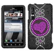 Insten® Diamante Protector Cover For Motorola XT862 Droid 3, Center of Attention