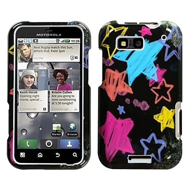 Insten® Protector Case For Motorola MB525 Defy, Chalkboard Black Star