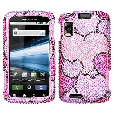 Insten® Diamante Protector Cover For Motorola MB860 Olympus/Atrix 4G, Cloudy Hearts