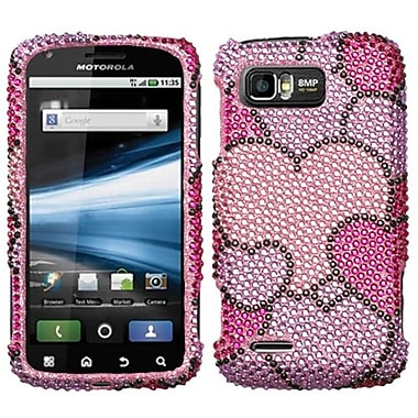 Insten® Diamante Protector Case For Motorola MB865 Atrix 2, Cloudy Hearts
