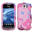 Insten® Diamante Protector Case For HTC myTouch 4G Slide, Colorful Flowers