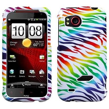 Insten® Protector Case For HTC ADR6425 Rezound, Colorful Zebra
