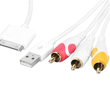 Insten® 5.6' Composite AV Cable For iPhone 3G/4S/iPad/iPod touch/iPod nano