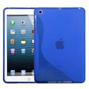 Insten® Candy Skin Cover For iPad Mini/iPad Mini 2, Dark Blue S-Shape