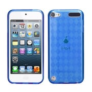 Insten® Argyle Pane Candy Skin Cover For iPod Touch 5th Gen, Dark Blue