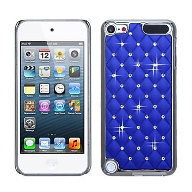 Insten® Alloy Diamond Luxurious Lattice Phone Protector Cover For iPod Touch 5th Gen, Dark Blue