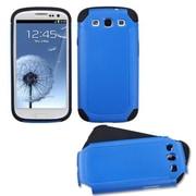 Insten® Fusion Hard Soft High Impact Armor Skin Gel Case For Samsung Galaxy SIII, Dark Blue/Black