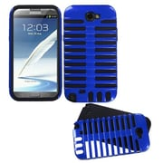 Insten® Fusion Dual Layer Hybrid Phone Protector Case F/Samsung Galaxy Note II T889, Dark Blue/Black