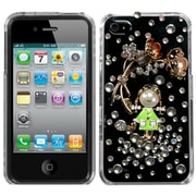 Insten® Crystal Premium 3D Diamante Protector Cover F/iPhone 4/4S, Debby Diamond/Blooming Buttercups