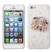 Insten® Pearl 3D Diamante Back Protector Cover F/iPhone 5/5S, Delicious Cherry