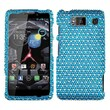Insten® Diamante Protector Case For Motorola XT926W Droid RAZR HD, Blue/White Dots
