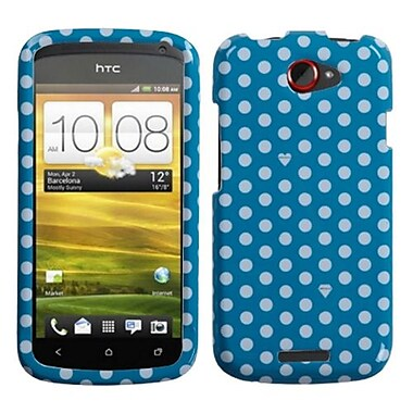 Insten® Protector Case For HTC-One S, Blue/White Dots