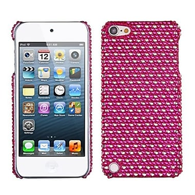 Insten® Dots Diamante Back Protector Cover For iPod Touch 5th Gen, Hot-Pink/White