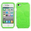 Insten® Skullcap Base Hybrid Protector Covers F/iPhone 4/4S