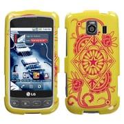 Insten® Exotic Protector Case For LG LS670 Optimus S/Optimus U/VM670 Optimus V, Yellow