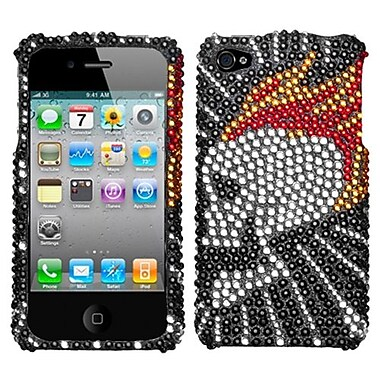 Insten® Diamante Protector Cover F/iPhone 4/4S, Flame Skull