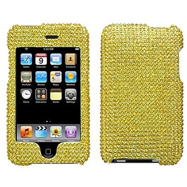 Insten® Diamante Faceplate Case For iPod Touch 2nd Gen, Gold