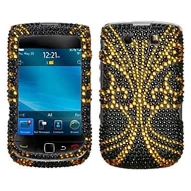 Insten® Diamante Protector Case For RIM BlackBerry 9800/9810, Golden Butterfly