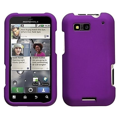 Insten® Protector Case For Motorola MB525 Defy, Grape