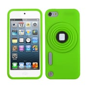 Insten® Camera Style Stand Pastel Skin Cover With Lanyard For iPod Touch 5th Gen, Green