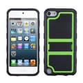 Insten® Gummy Armor Stand For iPod Touch 5th Gen, Green