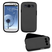 Insten® Fusion Snap-in Faceplate Case For Samsung Galaxy S3 i9300 T999, GrAy Texture