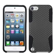 Insten® Hybrid Dual Layer Combo Hard Soft Skin Gel Cover For iPod Touch 5th Gen, Gray Black