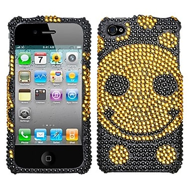Insten® Diamante Protector Cover F/iPhone 4/4S, Happy Face