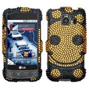 Insten® Diamante Protector Case For LG LS670 Optimus S/Optimus U/VM670 Optimus V, Happy Face
